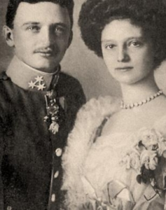 The engagement portrait of Blessed Karl & Zita of the House of Habsburg-Lorraine, who were the last imperial monarchs of Austria.